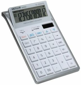 Victor 6400 Professional Desktop Calculator With Auto Replay Check And Correct