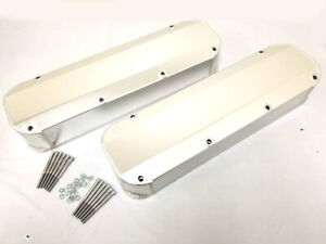 Bb Ford 429 460 Fabricated Aluminum Tall Valve Covers Bbf No Holes 1 4 Rail