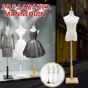 M size Female Mannequin Torso Dress Form Adjustable Dressmaker Display With