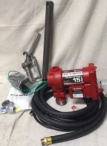 Fill rite Fr1210g 12v 15 Gpm Fuel Transfer Pump With Discharge Hose Manual Pipe