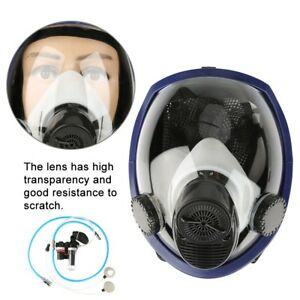 Air Fed Supplied Gas Mask Full Face Airline Paint Spraying Welding Respirator