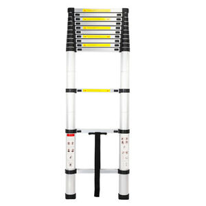 12 5ft Aluminium Multi purpose Telescopic Ladder Extension Steps 330lb Max Load