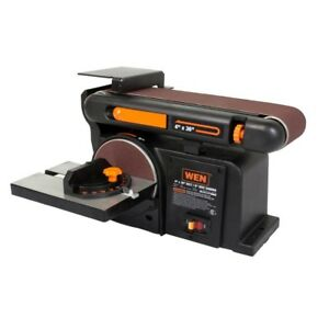 WEN 4.3-Amp 4 x 36-Inch Belt and 6-Inch Disc Sander with Cast Iron Base