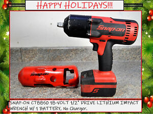 Snap On Ct8850 18 Volt 1 2 Drive Lithium Impact Wrench W 1 Battery No Charger
