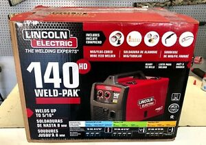 New Lincoln Electric 140 Hd Weld pak Wire Feed Mig Flux cored Welder K2514 1