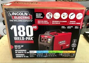 New Lincoln Electric 180 Hd Weld pak Mig Wire Feed Flux cored Welder K2515 1