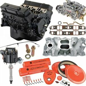 Jegs 7353k6 Small Block Chevy 350ci Crate Engine Kit Pre 1986 Cast Iron Cylinder