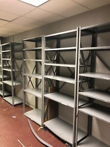 Lot Of 6 Units Of Metal Shelves By Tennsco