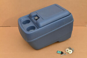 1978 1991 Ford Truck Bronco Center Console Cupholder Bucket Seat Blue Interior