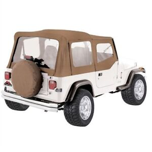 Crown Automotive Ct20037 Complete Soft Top 1987 1995 Jeep Wrangler Yj W Upper S
