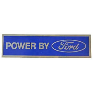 Scott Drake Df 410 Valve Cover Decal Powered By Ford Chrome Blue