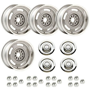Year One Wheels Crwsf1 Cast Aluminum Corvette Rally Staggered Wheel Kit 2 17 X