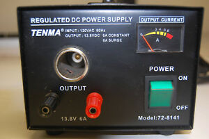 Tenma 72 8141 High Quality Linear Regulated Dc Power Supply 13 8v 6a