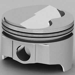 United Engine Machine Ic736 040 Ford 289 302 393ci Forged Pistons Solid Dome 15
