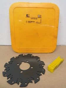 New Kennametal 4 97123 130 125mm Indexable Insert Slotting Saw With 10 Inserts
