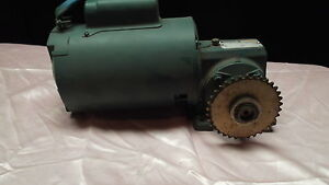 Reliance 1 4 Hp 120ac Electric Gear Motor 97 Rpm Output