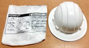 Omega Ii White Full Brim Safety Hard Hat Ratchet Suspension 6 Point Usa Made