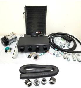 Universal Underdash Ac Air Conditioning Evaporator Heat Cool Kit W Hoses Vents
