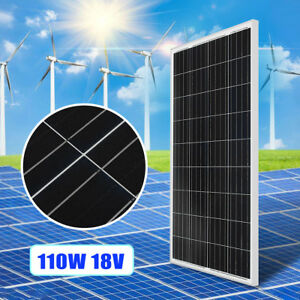 110w 18v Poly Solar Panel Module Battery Charger For 12v Rv Boat Car Us