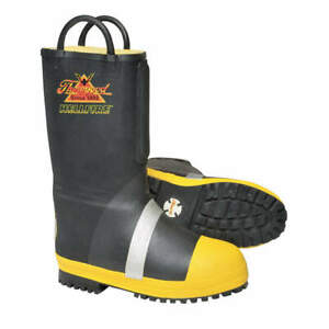 Hellf Insulated Fire Boots 10 1 2m steel pr 807 6000 10 5m Black yellow silver