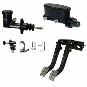 Wilwood 340 14361k Dual Pedal And Master Cylinder Kit Includes Dual Clutch brak
