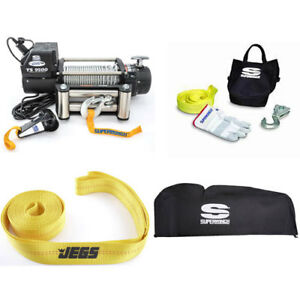 Superwinch 1595200k Tiger Shark 9500 12v Series Winch Kit 5 2hp Motor 9 500lb Li