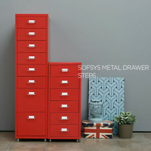Ikayaa 8 Drawers 4 Casters Metal Drawer Filing Cabinet Detachable Cabinets A5f5