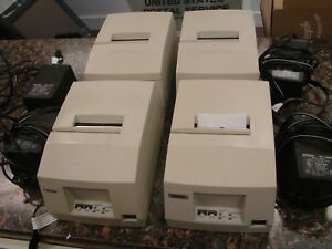 Lot 4x Epson Tm u325pd M133a Pos Receipt Printer W serial Port Power Supply
