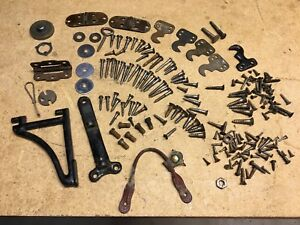 Antique Sewing Machine Parts Only Lot Many Different Screws Plus Other