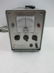 Leeds Northrup 9834 Dc Null Detector Vintage Lab Laboratory Benchtop Device