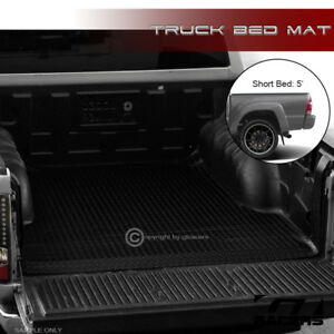 For 2005 2018 Tacoma 5 60 Double Black Rubber Diamond Truck Bed Rug Floor Mat
