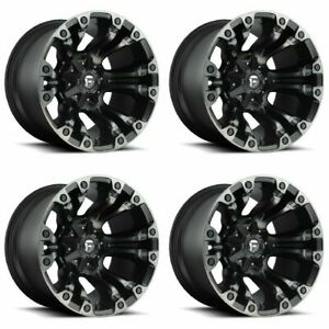Set 4 18 Fuel Vapor D569 Black Machined Wheels 18x9 8 Lug 8x180 Truck Rims 20mm