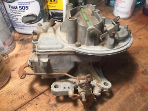 Vintage Holley 600 Cfm 2 Barrel Carburetor Bbl Carb Good For The Track