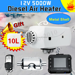 12v 5kw Diesel Air Heater Lcd Thermosta Control For Truck Motor Home Trailer