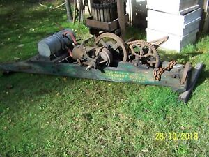 Antique Wade Dragsaw W hit And Miss Engine Made For Montgomery Wards As Is