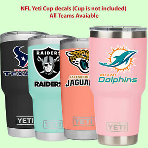 Nfl Yeti Cup Decal Sticker For Yeti Rambler Tumbler Cup Mug Wine Glass Cooler