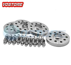 4 10mm Hubcentric Wheel Spacers Adapters 5x100 5x112 For Audi Vw 57 1mm Bore