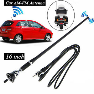 16 Universal Car Antenna Auto Roof Fender Radio Am Fm Strong Signal Aerial Usa