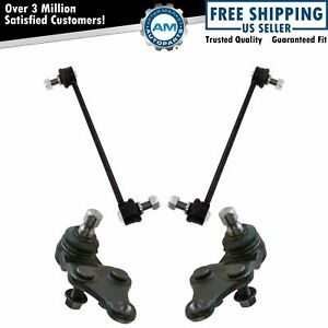 Front Lower Ball Joints Sway Bar Link Suspension Kit 4pc For Hyundai Kia New