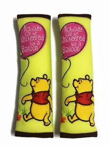 Winnie The Pooh Car Doll Accessories Seat Belt Cover Shoulder Pads Seat Cover