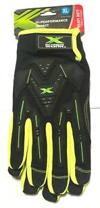 West Chester Gloves Hi vis Impact Protection Safety Work Gloves Size Xl