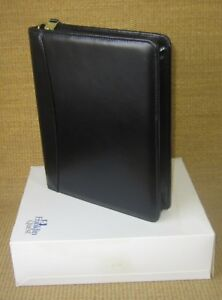 Classic 1 5 Gold Rings new Black Fine Leather Franklin Covey Planner binder