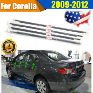 For 2009 2012 Toyota Corolla 4pcs Weatherstrip Window Moulding Trim Seal Belt Us