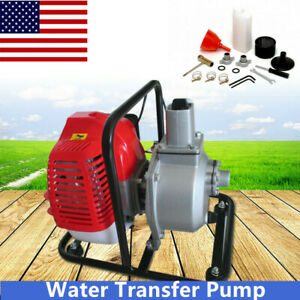 Industrial 43cc 2 stroke Water Pump Air cooled Gasoline 2hp 7000rmp Usa Stock