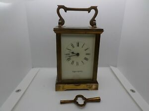 Vintage Carriage Clock Mappin Webb Key In Good Working Order