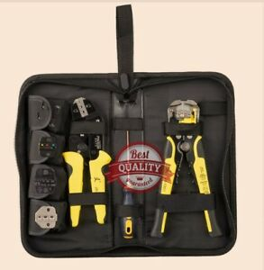 Multitool Wire Crimper Pliers Tools Engineering Ratchet Terminal Crimping