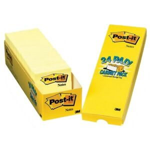 Post it Super Sticky Notes Canary Yellow 24 Pads 24 Pads Canary Yellow