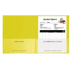 C line Classroom Connector School to home Folders 25 count Box Yellow