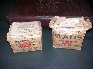 Antique Winchester cardboard wads Winchester repeating Arms Company ammo box