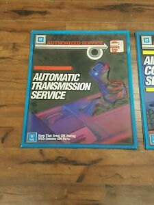 Early 80s Gm Dealership Service Signs Blow Mold Plastic Htf Corvette Gnx